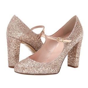 🆕 KATE SPADE Rose Gold Angelique Glitter Pump